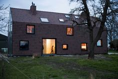 VIVA architecture prototypes dutch house as a farmhouse Architecture Board, Residential Architecture, Interior Architecture, Interior Design, Nassau, Wooden Facade, Farm Pictures, Dutch House, Urban Agriculture