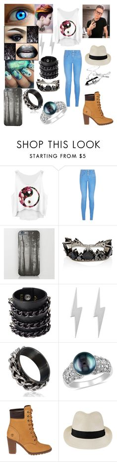 """""""Tyler oakley themed outfit"""" by jadesalas on Polyvore featuring New Look, NYX, Fernando Jorge, Mia Bag, Edge Only, Miadora, Timberland and Melissa Odabash"""