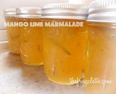 Mango Lime Jam Recipe - looks delicious! @Jennifer Vlcek - it's in a mason jar!