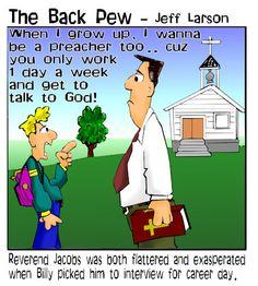 preacher cartoons, christian cartoons, pastor cartoons,  career day cartoons