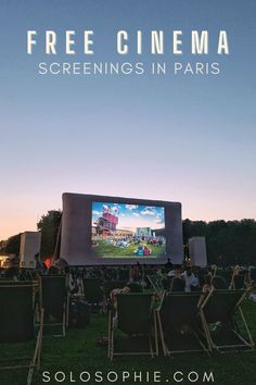 Best Outdoor Cinemas in Paris to Watch Movies for Free! Paris France summer guide
