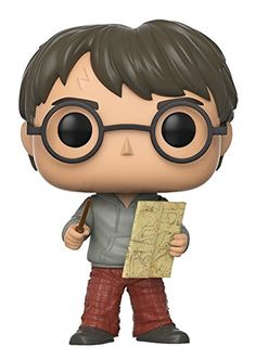 As a fan of both Harry Potter and Funko Pops, I really enjoy collecting these. I almost have the whole Harry Potter set. Funko Pop Movies Potter-Harry w/Marauders Map Harry Potter Film, Mundo Harry Potter, Theme Harry Potter, Ron Y Hermione, Hermione Granger, Bellatrix Lestrange, Sirius Black, Funko Pop Figures, Nicolas Flamel