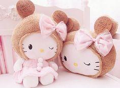 Hello Kitty plushies.