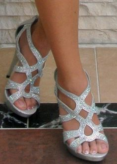 Sweetie's Gail - Rhinestone Strappy Shoes - RissyRoos.com