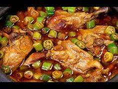 RECEITA MINEIRA DE FRANGO COM QUIABO - YouTube Kung Pao Chicken, Gluten, Cooking, Videos, Ethnic Recipes, Food, Okra Recipes, Redneck Recipes, Cake Roll Recipes