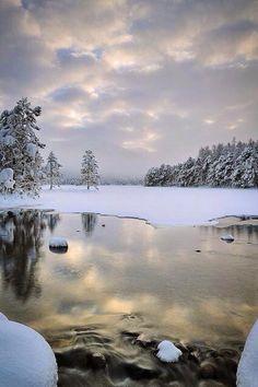 Before the Winter Light, Cold - Loch An Eilean, Cairngorm, Scotland Beautiful World, Beautiful Places, Amazing Places, Winter Schnee, Cairngorms, Winter Magic, All Nature, Snow Scenes, Winter Landscape