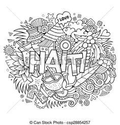 Vektor - Haiti, rukopis, Nápis, doodles, základy - sériová ilustrace, volné ilustrace, sériová klipartová ikona, sériové klipartové ikony, logo, liniové umělecké dílo, EPS obrázek, obrázky, grafika, kresba, kresby, vektorový snímek, umělecké dílo, EPS vektorové umělecké dílo