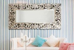 Decorative mirrors for living room and dining room, mirrors for living rooms, mirrors . Full Body Mirror, Living Room Mirrors, Diy Wall Decor, Home Decor, Round Mirrors, Dining Room, Decorative Mirrors, Color Plata, Furniture