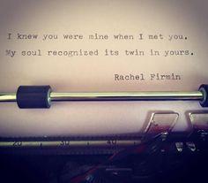 Soul's Twin by Rachel Firmin