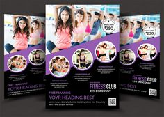 Fitness Flyer  Gym Flyer Templates  Flyer Template Gym And Add