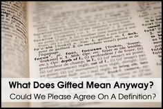 I read a rather sad post the other day on this topic. In the comments, the author elaborated on how she thinks and learns that sounded like classic gifted: asynchronous learning, imposter… Gifted Kids, Read Later, High School, Education, Learning, Words, Quotes, Gifts, Sad