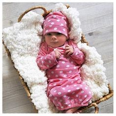 Baby Be Mine Molly Baby Romper with Matching Hat