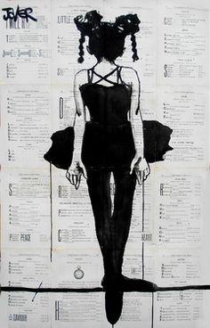 "Saatchi Online Artist Loui Jover; Drawing, ""the little acrobat"" #art"
