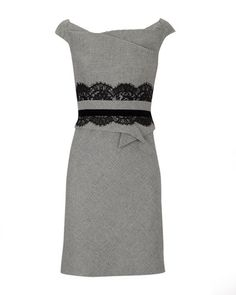 dress with lace accent at waist