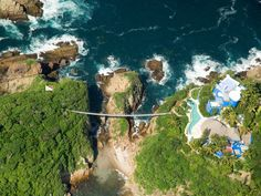 Gondola to private beach...hanging bridge to private island...a mere $7,000 USD a night!