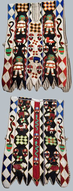 Africa   Beadwork tunic from the Yoruba people of Nigeria   Glass beads, cowrie shells and linen lining   2nd half of the 20th century
