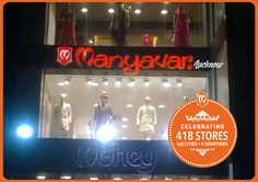 Namaskar Lucknow. We return with our 7th store in the city, UP's 43rd! #blessed #enjoy #CelebrationWear
