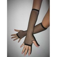 Black Fishnet Arm Warmers