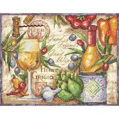 Dimensions Stamped Cross Stitch Kit Pinot GrigioDimensions Stamped Cross Stitch Kit Pinot Grigio,