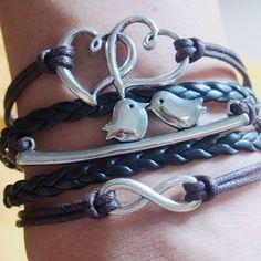 infinity-heart-to-heart-love-birds-charm-bracelet