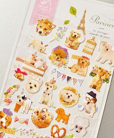Korea dog stickerDIY painted diary Deco sticker by enjoyparty