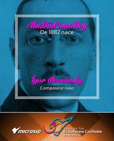 #UnDíaComoHoy 17 de junio pero de 1882 nace el compositor ruso Ígor Stravinski.