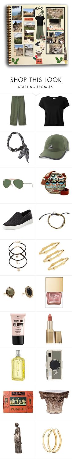 """Touring Pompei & Herculaneum"" by deborah-518 ❤ liked on Polyvore featuring Gap, RE/DONE, BCBGeneration, adidas, Ray-Ban, Sakroots, MICHAEL Michael Kors, Forever 21, Polaroid and NYX"