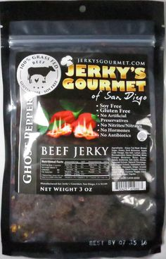Discover how Jerky's Gourmet of San Diego – Ghost Pepper 100% grass-fed beef jerky fared in a jerky review. http://jerkyingredients.com/2015/12/20/jerkys-gourmet-ghost-pepper-beef-jerky/ @JerkysGourmet #JerkysGourmet #JerkysGourmetofSanDiego #beefjerky #review #food #jerky #ingredients #jerkyingredients #jerkyreview #beef #paleo #paleofood #snack #protein #snackfood #foodreview #grassfedbeef #grassfed #ghostpepper #bhutjolokia