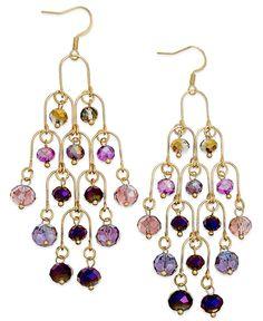 c.A.K.e. by Ali Khan Gold-Tone Mixed Glass Bead Chandelier Earrings - Jewelry & Watches - Macy's