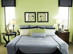 Green and grey bedroom bedroom ideas grey and yellow grey and green bedroom design ideas green . green and grey bedroom green grey bedroom ideas Light Green Bedrooms, Green Bedroom Colors, Green Bedroom Design, Green Bedroom Walls, Green Wall Color, Lime Green Walls, Green Painted Walls, Black Bedroom Furniture, Bedroom Wall Colors