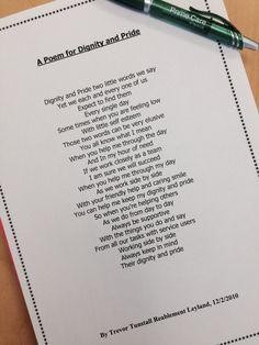 A poem for Dignity & Pride #dignityawarenessmonth