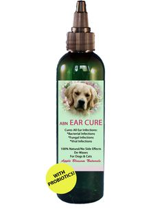 ABN Ear Cure - 100% Natural Ear Infection Cure for Dogs. Cures All Infections: Bacterial, Fungal & Viral. Contains Probiotics. Cleans & Prevents Infection & De-Waxes No Oily Residue No Prescription/No Vet Visit! 100% Money Back Guarantee!  www.facebook.com/appleblossomnaturals @AppleBlossomNat Like us on Facebook & Twitter and get 25% off your order!!!