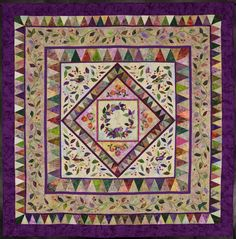 lovely batiks, simple piecing and applique