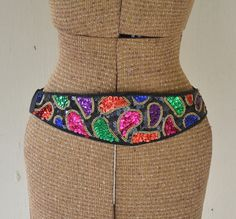 Vintage Sequin Belt Paisley by IngridIceland on Etsy, $22.00