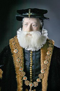 George Stuart's portraits of Historical Figures -Sir William Cecil Lord Burghley