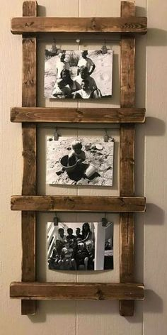 rustic photo holder ladder photo holder ladder decor rustic decor farmhouse decor unique photo holder photo display nursery decor by esmeralda Wall Decor Design, Diy Wall Decor, Diy Home Decor, Wooden Decor, Pallet Wall Decor, Rustic Nursery Decor, Rustic Decorations For Home, Diy Wooden Crafts, Rustic Wood Wall Decor