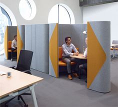 Allermuir Pod...Duo. Perfect for a catch up for 2! Upholstered in Camira Blazer fabric or Halcyon vinyl