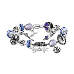 The Bradford Exchange Bracelet: Tim Burton's The Nightmare Before... ($149) ❤ liked on Polyvore featuring jewelry, bracelets, bead charm bracelet, bracelet charms, christmas bracelet, glass charms and fine jewelry