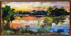 Sunrise on the Marsh by Curt Butler Abstract Landscape Painting, Watercolor Landscape, Landscape Art, Landscape Paintings, Watercolor Paintings, Beach Paintings, Abstract Art, Landscapes, Painting Still Life