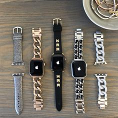When your favorite colors are Sparkle & Shine.High quality Apple Watch Bands t. - When your favorite colors are Sparkle & Shine…High quality Apple Watch Bands to dress up your Apple Watch. Sparkle On. Apple Watch Accessories, Iphone Accessories, Iphone Watch Bands, Apple Watch Bands Fashion, Gold Apple Watch, Accessoires Iphone, Accesorios Casual, Band Pictures, Beautiful Watches