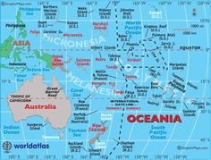 Map of Oceania, Geography of Australia and Oceania Maps, Countries, Landforms, Rivers, Polynesia and Geography Information - Worldatlas.com