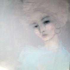 Jorunn Mulen Original Painting - Back to Blue Original Paintings, Blues, Shabby Chic, Artsy, Artwork, Portraits, Image, Beautiful, Decor