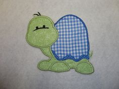 DIY Embroidered Applique Turtle Iron On Sew On Patch. $3.95, via Etsy.
