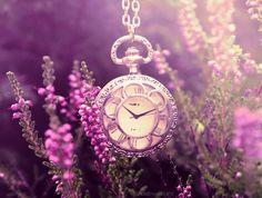 Old fashion broken watch for fairy garden