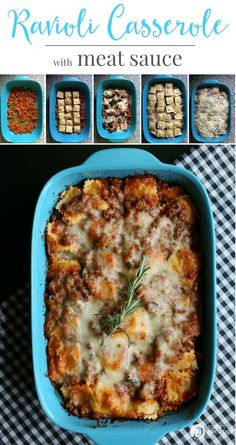 Ravioli Casserole with meat sauce | Ravioli Casserole with Meat Sauce | A recipe that the whole family will love! This quick and easy dinner idea is comfort food at it's finest. Get the recipe on TodaysCreativeLife.com