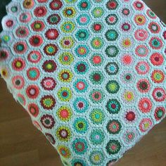 Ravelry: PretletterP's Green and Pink Hexagon Blanket