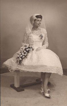 My grandma as a bride in 1959 by brigitte_isabella, via Flickr