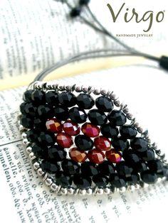 Handmade Crystal Bead Evil Eye Macrame by VirgoHandmadeJewelry Virgo Jewelry, Crystal Beads, Crystals, Evil Eye, Macrame, Virginia, Facebook, Eyes, Trending Outfits