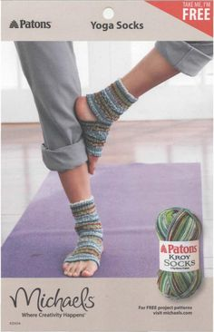 Knit a Pair of Yoga Socks - Free Knitting Pattern (i don't knit... will someone please make these for me?)