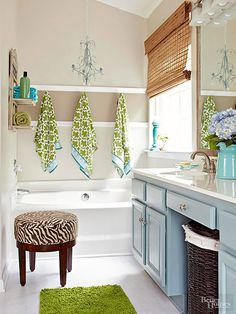 What a fresh bathroom!